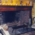 fireplace_stenciled_wall